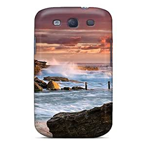 High Grade NewArrivalcase Flexible Tpu Case For Galaxy S3 - Spectacular Pool In Rocky Seashore