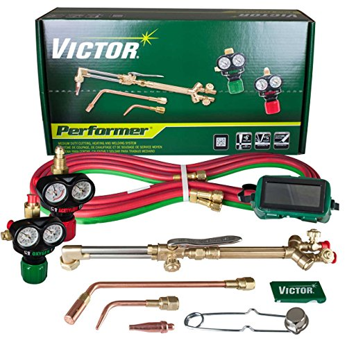 Victor Technologies 0384-2045 Performer Medium Duty Cutting System, Acetylene Gas Service, ESS3-15-510 Fuel Gas Regulator