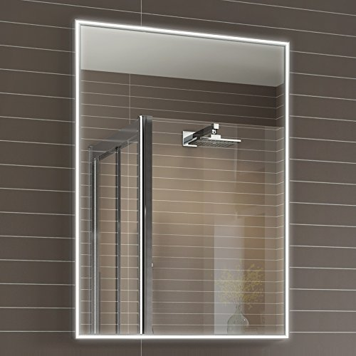 500 x 700 mm Designer Illuminated LED Bathroom Mirror Light Sensor + Demister ML4001 iBathUK