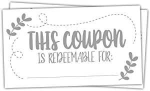 50 Coupon Cards - Coupons for Mom, Wife, Husband, Business - Vouchers