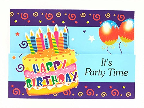 Birthday Cake Invitations -Kids Party (12 Count) with Envelopes