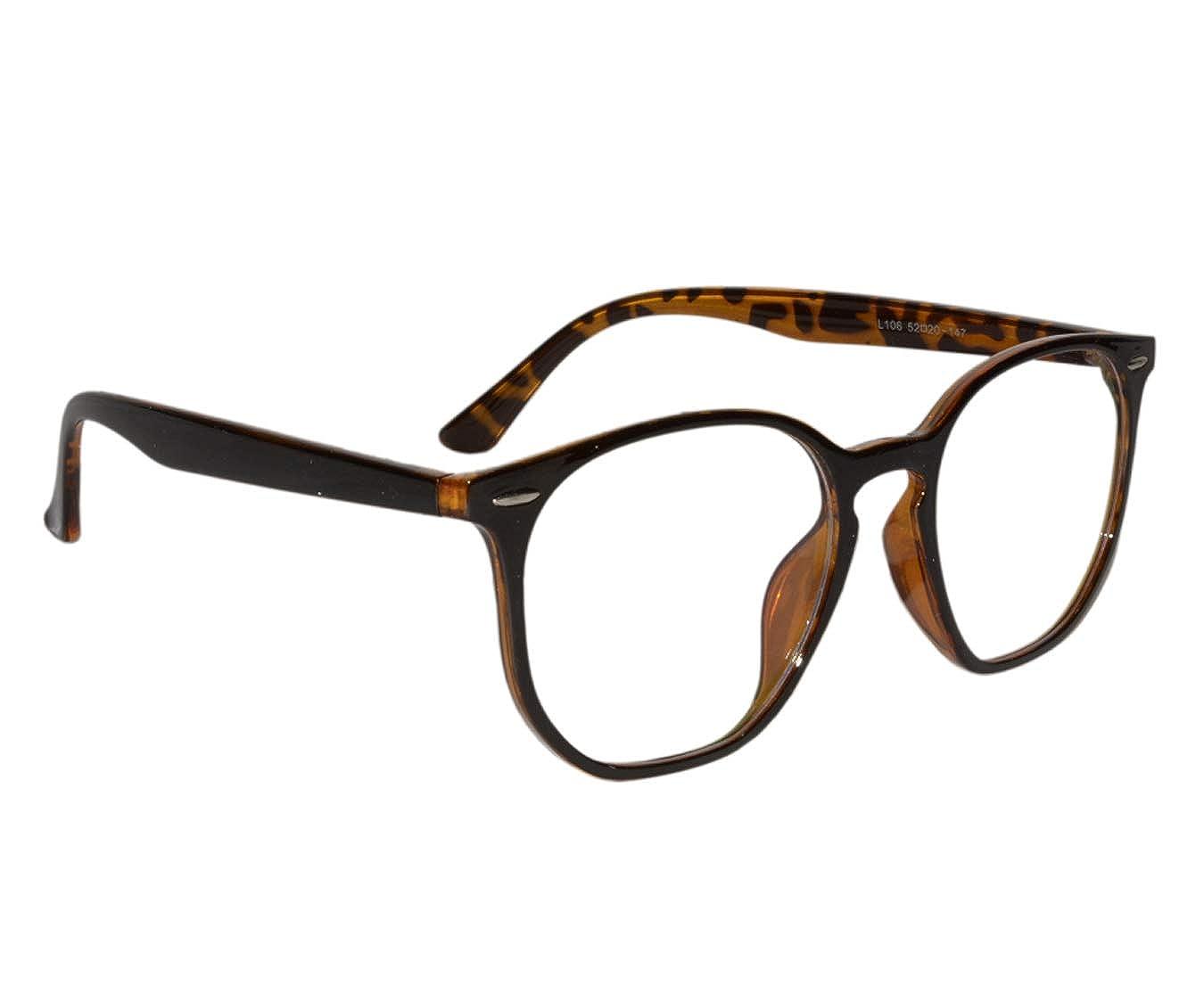 ed54cddd75 Peter Jones Stylish Brown Tiger Print Square Unisex Optical Frame (106IDA)   Amazon.in  Clothing   Accessories