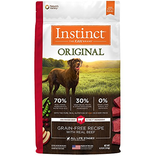 Instinct Original Grain Free Chicken Meal Formula Natural Dry Dog Food by Nature's Variety, 25.3 lb. Bag
