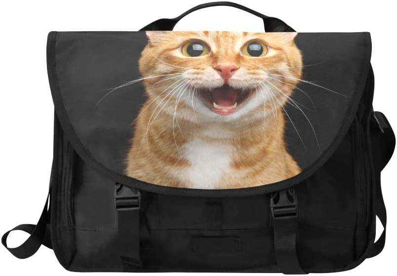 Laptop Briefcase for Women Full Face Cat Sit Multi-Functional Mens Laptop Briefcase Fit for 15 Inch Computer Notebook MacBook