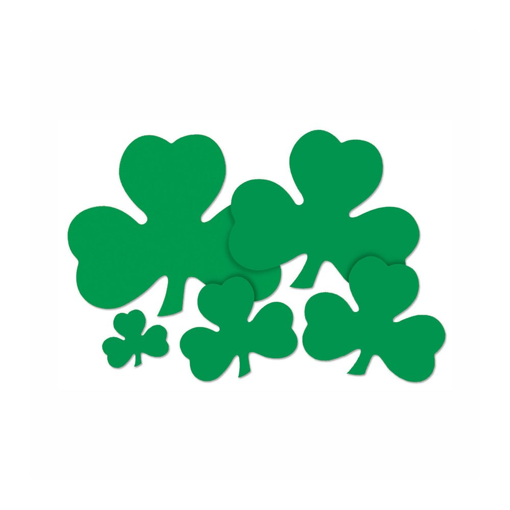 Beistle 33760-5 144-Pack Decorative Printed Shamrock Cutouts, 5-Inch by Beistle