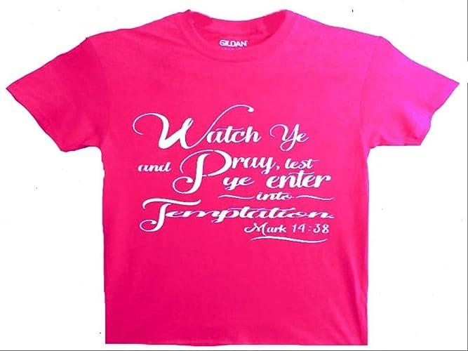 463dbe05 Amazon.com: Christian T-shirt for Women/Bible Verse/Religious T-shirt for  Women/Religious Gift/Jesus Gift/Pastor Gift/Church Gift/Baptism Gift/(Watch  ye and ...