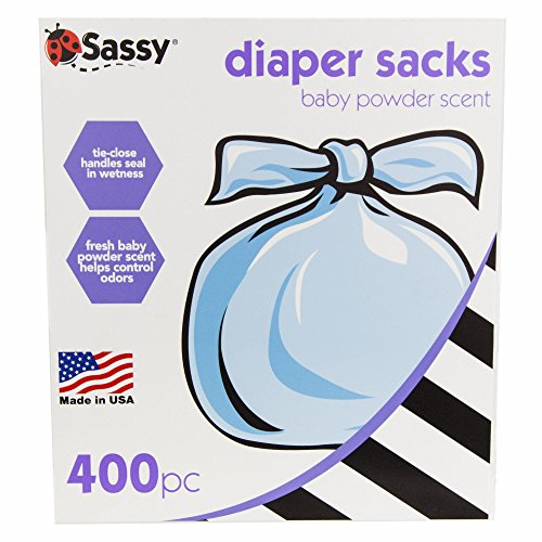 Sassy Baby Disposable Diaper Sacks, 400 Count (Diaper Sacks)