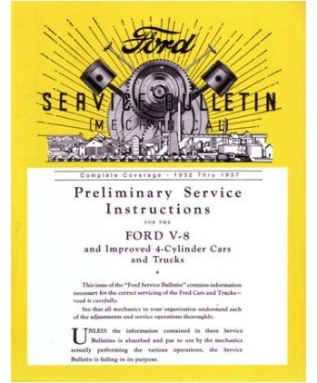 1932 1935 1936 1937 FORD Car Truck Service Bulletins