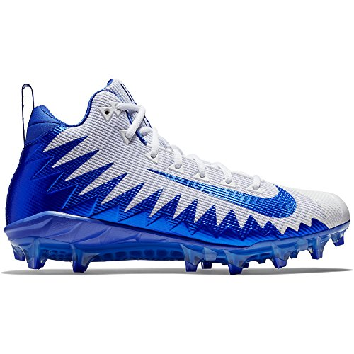 Nike Mens Shoes Football - Nike Men's Alpha Menace Pro Mid Football Cleat White/Game Royal/Photo Blue Size 10 M US
