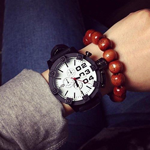 Gotd Men Silicone Quartz Analog Wrist Watch Casual Watches (White )