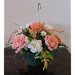 Easter Cemetery Basket, Easter Cemetery Flower Arrangement, Hydrangea Cemetery Headstone 63