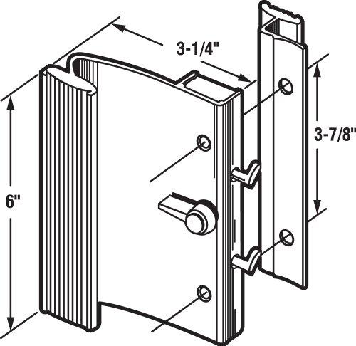 Slide-Co 14183-B Sliding Door Handle Set, Black Aluminum by Slide-Co (Image #1)