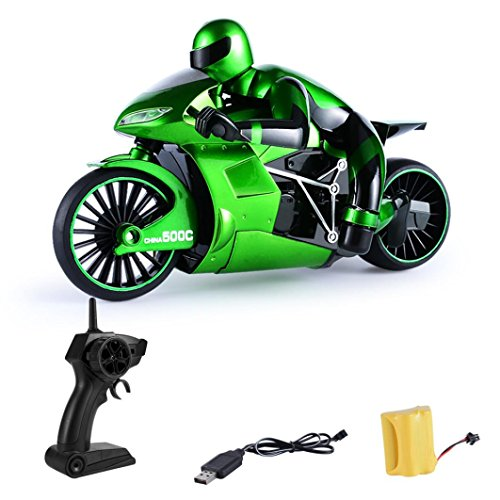 Excellent 1:16 2.4G Race 4 Channel RC 2 Wheels Rapid Drift Remote Control Motorcycle (green)