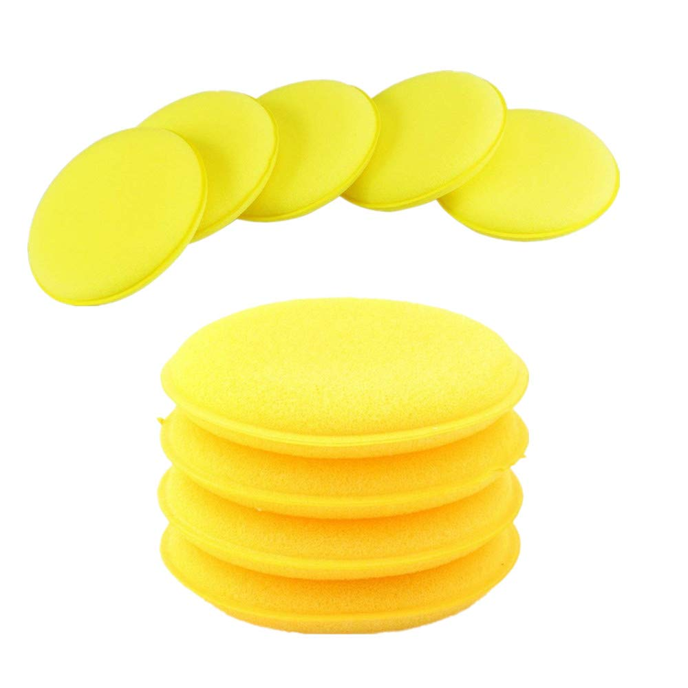 JIZUUU 12 Pcs Car Waxing Polish Sponge Super Soft Wax Foam Applicator Pads for Clean Car Vehicle Glass
