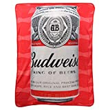 The Northwest Company Budweiser Brand Super Soft Plush Throw Blanket (Budweiser Beer Can)