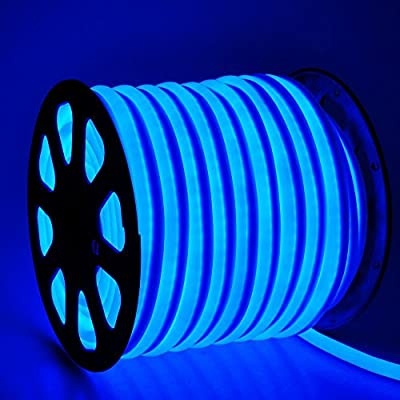 CHIMAERA 150ft 110V Blue Flexible LED Neon Rope Light Indoor Outdoor Holiday Valentines Party Decor Lighting