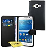 Galaxy Grand Prime Case, FoneExpert® Premium Leather Flip Book Wallet Case Cover For