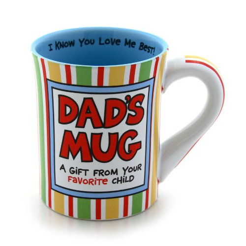 Enesco 4026941 Our Name Is Mud by Lorrie Veasey Dad Favorite Child 16-Ounce Mug, 4-1/2-Inch (Dad Coffee Mug compare prices)