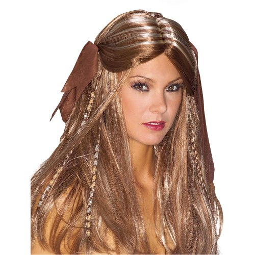 Pirate Lass Wig, Brown
