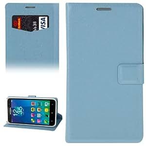 Silk Texture Funda Horizontal con Tapa Piel Case Cover con Card Slot & Holder Para Lenovo A8 (Blue)