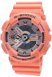 Casio G-Shock Men's Analog-Digital Peach Resin Strap Watch
