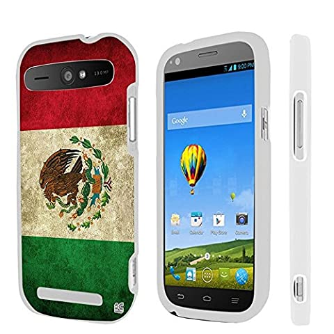 For ZTE Warp Sync N9515, ZTE Grand S Pro, Premium Protection Slim Light Weight 2 piece Snap On Non-Slip Matte Hard Shell Rubber Coated Rubberized Phone Case Cover With Design - Mexican (Zte Warp Sync Rubber Phone Case)