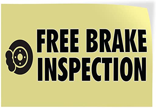 Set of 5 27inx18in Decal Sticker Multiple Sizes Brakes Auto Body Shop Car Repair Style T Automotive Brake Check Outdoor Store Sign Red