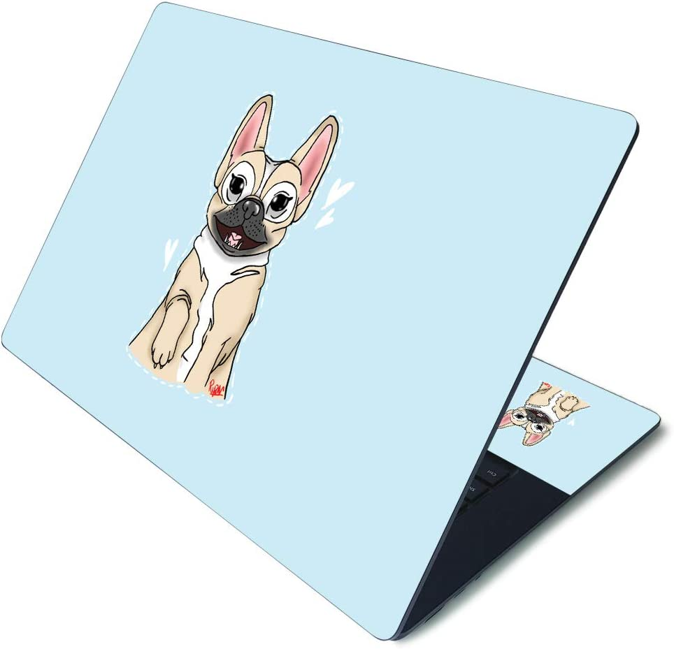 """MightySkins Skin for Microsoft Surface Laptop 3 15"""" - Frenchie Love 