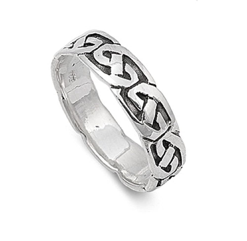 Princess Kylie 925 Sterling Silver Fashion Band Ring