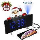PICTEK Projection Alarm Clock, Digital Clock Kids Projector with FM Radio, Dual Alarms