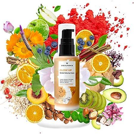 GLOW UP, Crema Antiarrugas Mujer -Explosión Antioxidante en la piel con 38 Activos Naturales como Astaxantina, vitamina C facial, Retinol puro para la cara o Colageno - Crema Hidratante Facial Mujer
