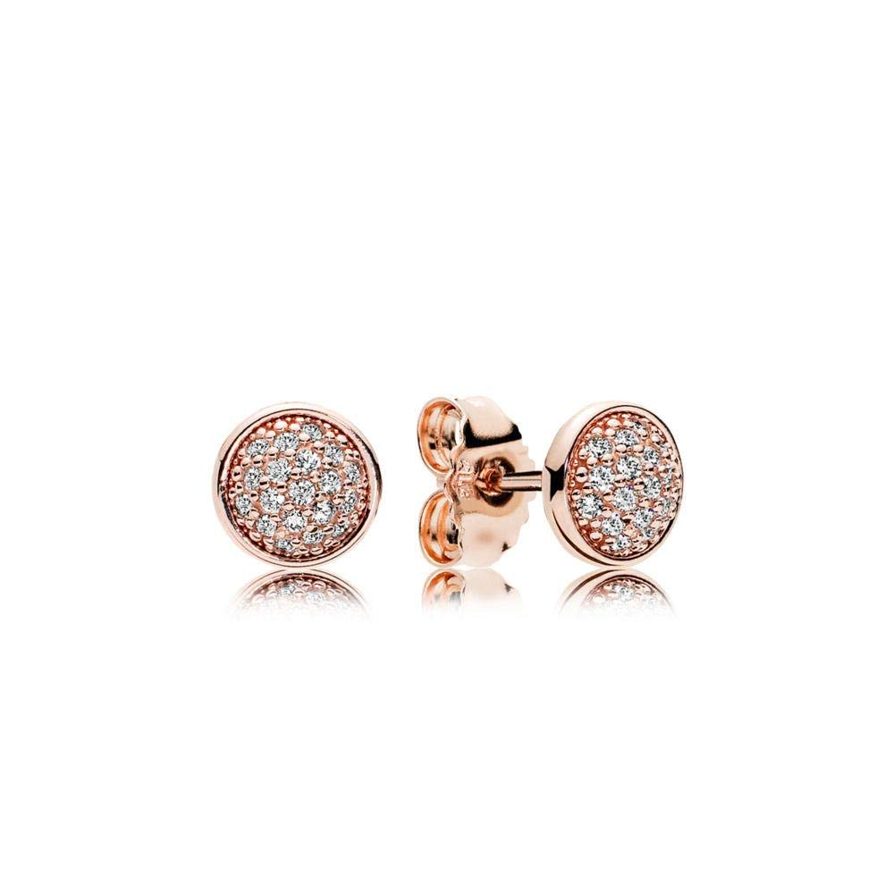 7e6c484e5 Amazon.com: PANDORA Dazzling Droplets Stud Earrings, PANDORA Rose, Clear  Cubic Zirconia, One Size: Jewelry