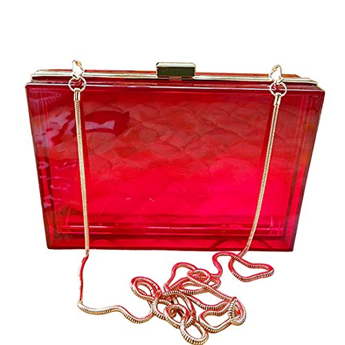 evening UNYU femme clutch Red Rosy Pochette Multi color pour Bright vwagR