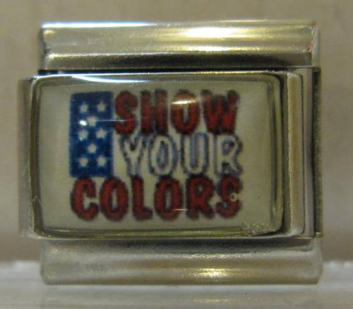 9mm Italian Charm... American Flag ... Show Your Colors