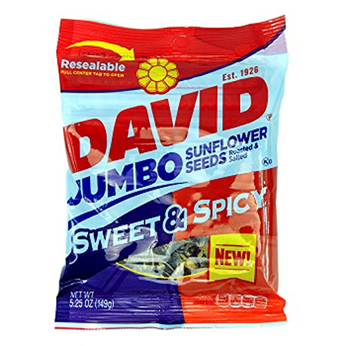 - Product Of David, Sunflower Seeds Jumbo Sweet & Spicy , Count 12 (5.25 oz) - Sunflower Seeds / Grab Varieties & Flavors