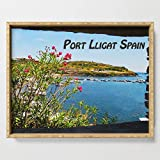 Society6 Serving Tray with handles, 18'' x 14'' x 1 3/4'', Window View of Port Lligat Spain by passport