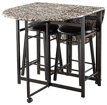Amazon.com - Pilaster Designs Spiky 3 Piece Kitchen Dinette ...