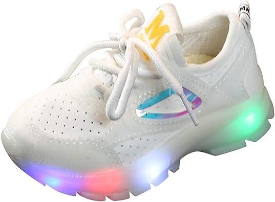 AIni Zapatillas De Deporte con Luces para NiñOs NiñAs Zapatos Luminosos LED Calzado Running Exterior Zapatillas Antideslizantes con Cordones Zapatillas Transpirables Y Ligeros Rosa Negro 21-30 EU: Amazon.es: Zapatos y complementos