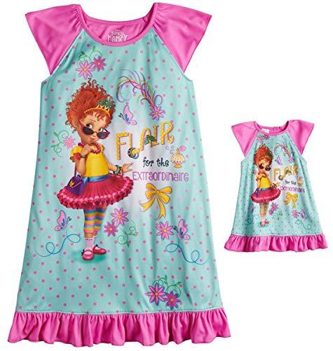 Disney Fancy Nancy Girls 4-10 Nightgown & Matching Doll Gown]()
