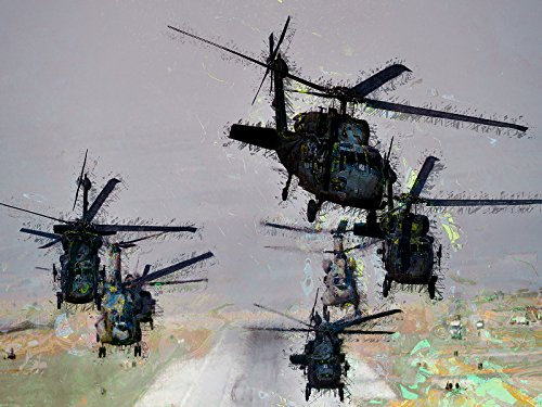 Black Hawk Poster Army Art Military Art Helicopter Art 24x36 (ARMYV253)