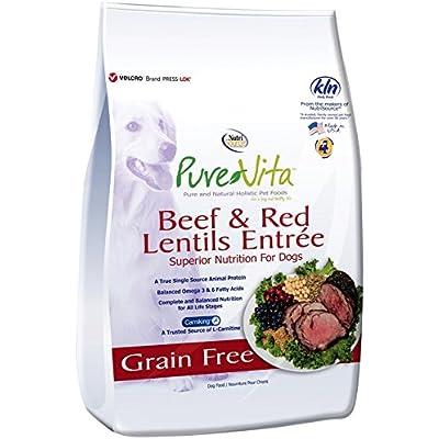 Nutri Source Pure Vita Grain Free Beef & Red Lentils, 15-Pound