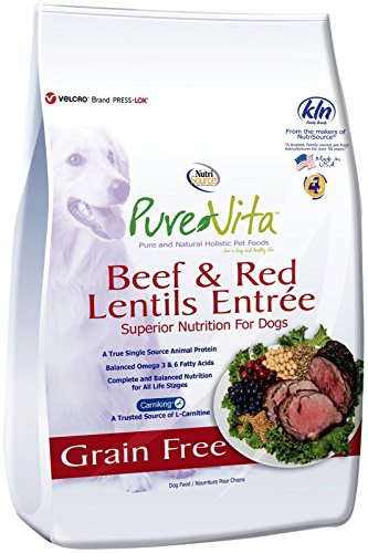 Pure Beef - Pure Vita Nutri Source Grain Free Beef & Red Lentils, 15-pound
