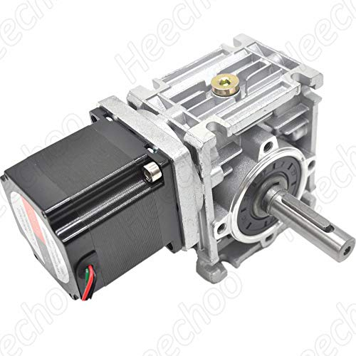 Worm Gear Nema23 Stepper Motor 3.5A L2.1inch Gearbox Ratio 30:1 Speed Reducer for CNC DIY Router