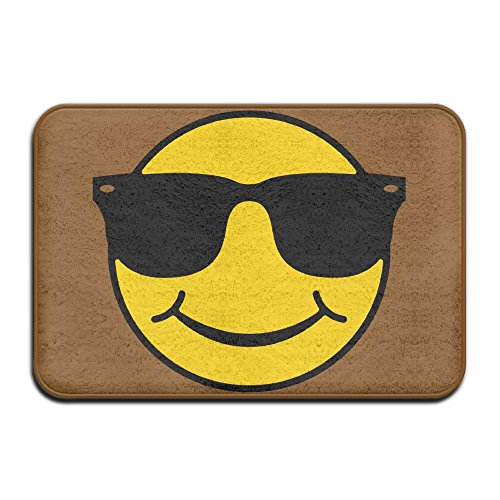 Indoor/Outdoor Door Mats With Smiley With Sunglasses Graphic Pattern For - Cruise Tom Sunglasses Risky Business