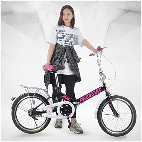 SYLTL Folding Bike Unisex Niño 20in Portátil Bicicleta Plegable ...