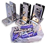 "Chrome Plated Zamac Urinal Screen Brackets - 3/Pk - for 1/2"" Restroom Partition Panels"