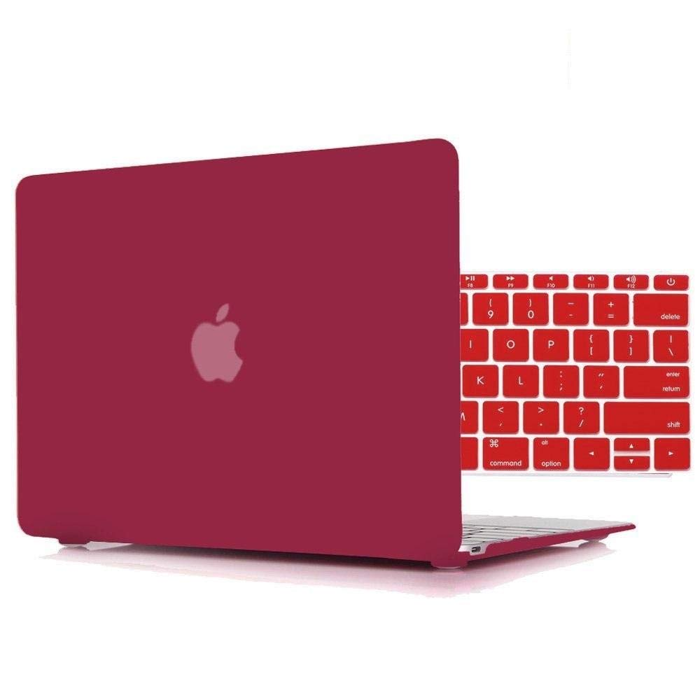 "RED Rubberized Hard Case for New Macbook 12/"" with Retina Display Model A1534"