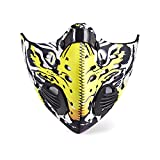 EDTara Riding Mask Activated Carbon Windproof Dust-proof Anti-Smog Non-Toxic Dust Filter Safety Riding Masks