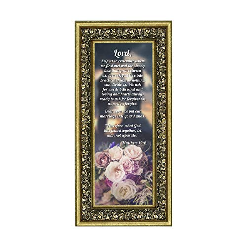 Marriage Prayer with Scripture, A Matthew Bible Verse, True Love Picture Frame, 6x12 7317G ()