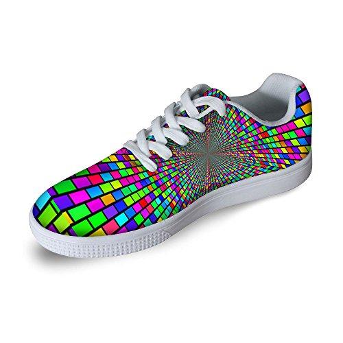 Per Te Disegni Cool Mens Graffiti Low Top Comode Scarpe Da Skateboard Stringate Sneaker Multi 6